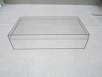 Коробочка с крышкой для бисера и бусин и прочего (длинна-140мм,ширина-77мм,высота с крышкой-35мм,без-28мм)