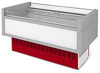 Витрина холодильная низкотемпературная островная ВХНо 2,4 Купец  (боковины АБС с надстройкой)