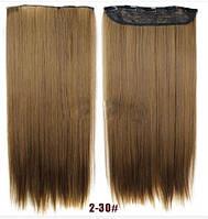 Трессы ровные светло-коричневый волосы на клипсах 100г