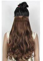 Трессы волнистые светло-коричневый волосы на клипсах 170г