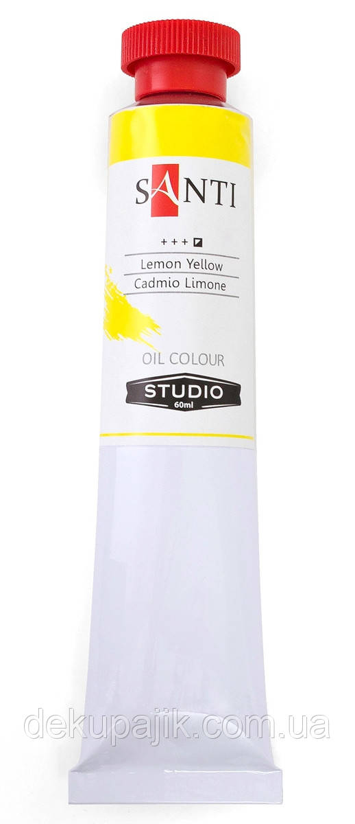 Краска масляная Santi Studio Кадмий лимонный