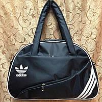 Спортивная сумка для фитнеса Adidas, Адидас черная с белым