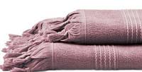 Рушник для сауни з антибактеріальним просоченням 100х150 Meyzer Tassels від Hamam LAVANDER, фото 1
