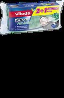 Vileda Schwamm Glitzi Pur Active 2+1 reinigungsstark ohne zu verkratzen - Губка для мытья посуды 2в1, 3 шт
