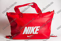 Женская спортивная сумка красного цвета