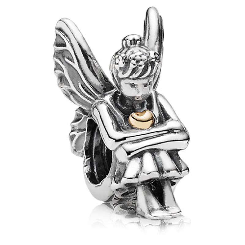Подвеска-шарм «Нимфа» из серебра 925 пробы с золотом