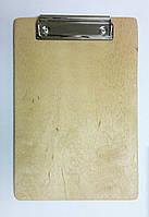 Планшет деревянный с зажимом, фанера (А5)