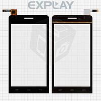 Сенсорный экран (touchscreen) для Explay Tornado, черный, оригинал