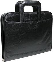 Папка-портфель из кожзаменителя 4U Cavaldi PKS8032 черная