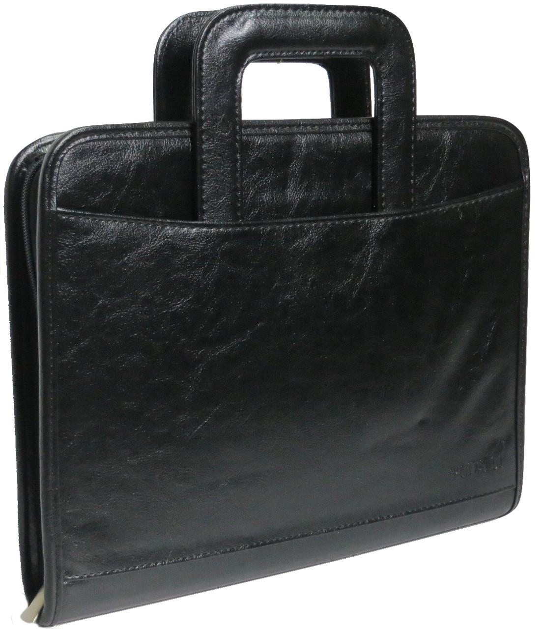 Папка-портфель классическая деловая из кожзаменителя 4U Cavaldi Артикул: PKS8032 черная