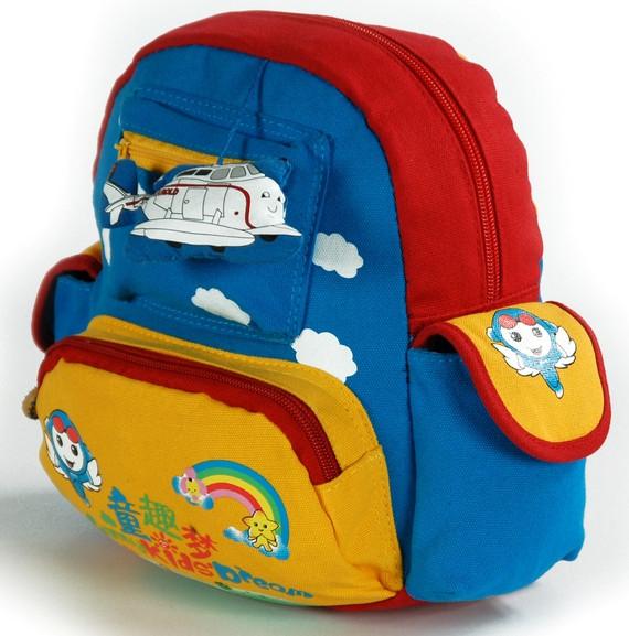 Яркий детский рюкзак Самолет Traum 7005-40 2 л