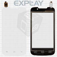 Сенсорный экран (touchscreen) для Explay Alto, белый, оригинал