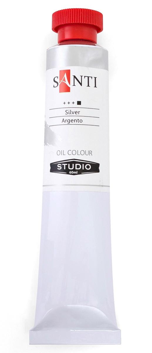 Краска масляная Santi Studio Серебро