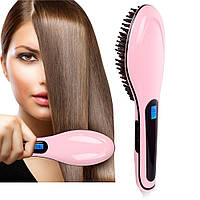 Расческа для выпрямления волос Fast Hair Straightener, электрический выпрямитель в виде расчески straightener