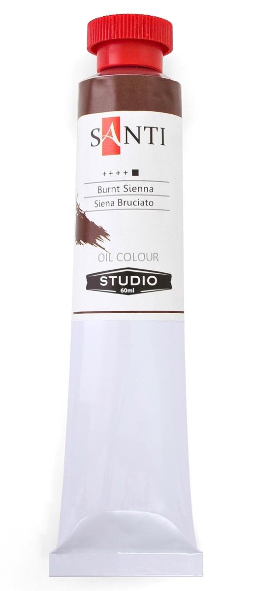 Краска масляная Santi Studio Сиена жжённая