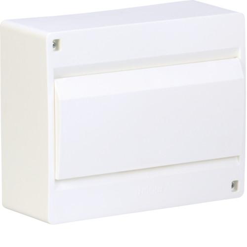 Щит на 10 модулей накладной с белыми дверьми Hager Cosmos VD110PD
