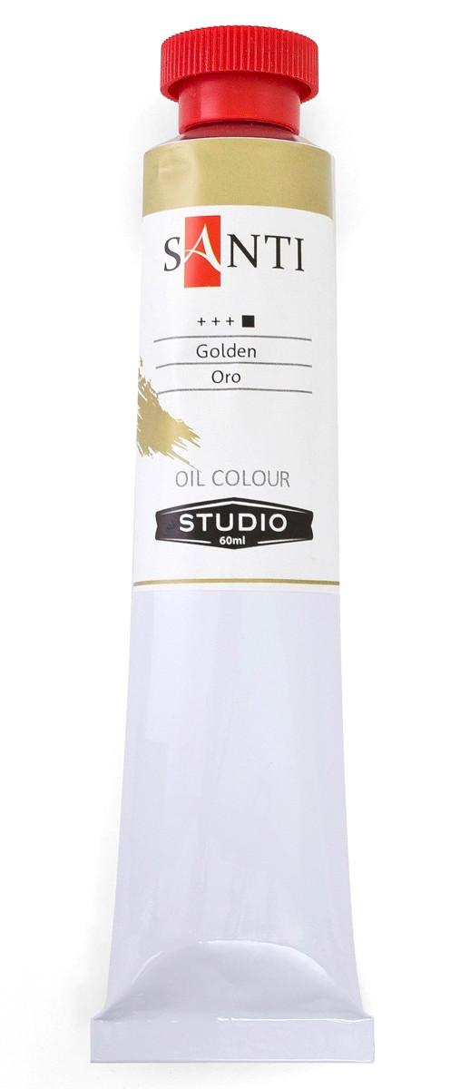 Краска масляная Santi Studio Тёмное золото
