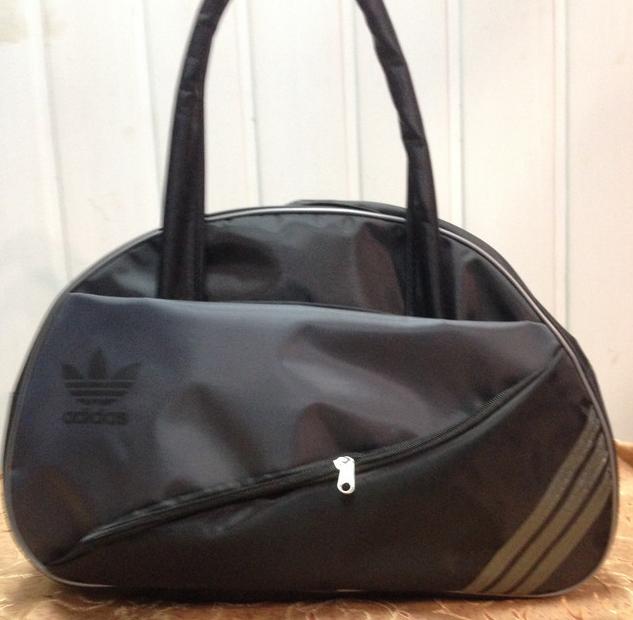 Спортивная сумка для фитнеса Adidas, Адидас черная с серым