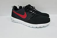 Кроссовки мужские Nike тёмно-синие с красным (9171)  код 0181 А