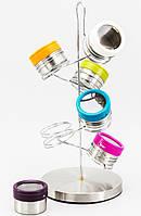 Комплект цветных банок для специй 6 пр. EZ-0012