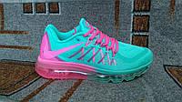 Акция кроссовки Air Max 2015 бирюзовые с розовым для бега и фитнеса 36 размер, фото 1