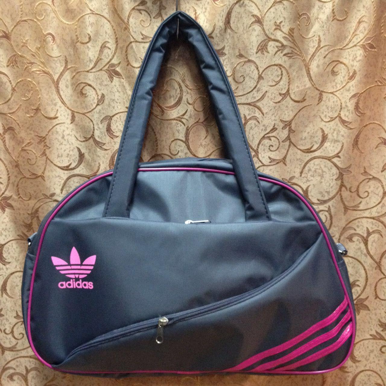 Спортивна сумка для фітнесу Adidas, Адідас сіра з рожевим