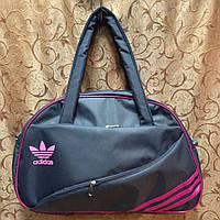 Спортивная сумка для фитнеса Adidas, Адидас серая с розовым ( код: IBS004SP )