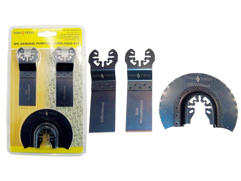 Набор насадок на ренаватор Wintech 3шт, прямая 2шт, полукруг 1шт, металл,дерево,пластик