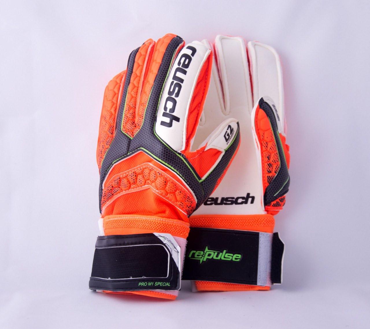Перчатки Вратарские Reusch pro M1 replica оранжевые, фото 1