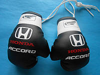 Боксерские перчатки в машину на стекло сувенир брелок  черные Honda accord