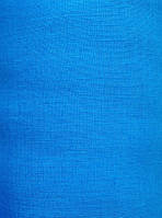 Голубая льняная ткань 100% лен, цвет 1142