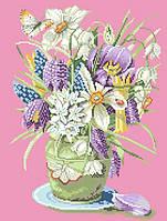 Рисунок на канве для вышивки нитками 10354 Тюльпаны
