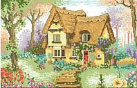 Рисунок на канве для вышивки нитками 40684 Домик в деревне