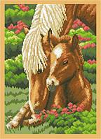 Рисунок на канве для вышивки нитками 52214 Лошади