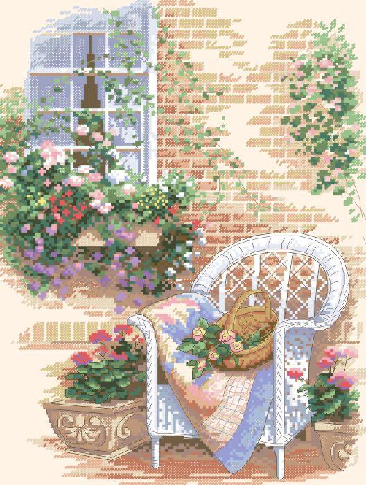 Рисунок на канве для вышивки нитками 72494 Уютное кресло