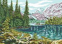 Рисунок на канве для вышивки нитками 81864 В горах