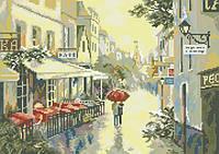 Рисунок на канве для вышивки нитками 81914 После дождя