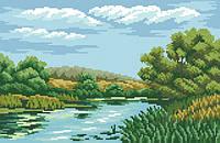 Рисунок на канве для вышивки нитками 81774 Зеленый пейзаж