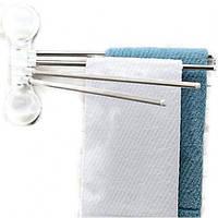 Вешалка для полотенец, полотенцесушитель на присосках 4шт. код 4 bar towel rack with suction cup