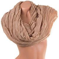 Женский модный хлопковый шарф 176 на 83 см. ETERNO (ЭТЭРНО) ES1405-16-3 бежевый