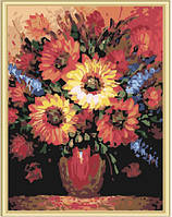"""Картина по номерам """"Подсолнухи в вазе"""", 40х50см, MG185, фото 1"""