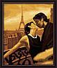 "Картина раскраска по номерам на холсте ""Французский поцелуй"", MG045,  40х50см"