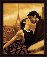 "Картина раскраска по номерам на холсте ""Французский поцелуй"", 40х50см. (КН045)"