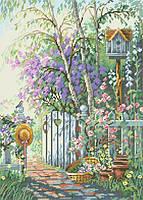 Рисунок на канве для вышивки нитками 20372 Весенний сад
