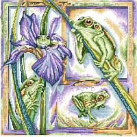 Рисунок на канве для вышивки нитками 52282 Древесная лягушка