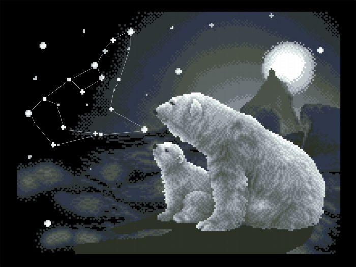Рисунок на канве для вышивки нитками 52292 Полярная ночь