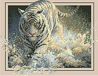 Рисунок на канве для вышивки нитками 01222 Белый тигр
