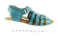 Модные босоножки синие на каждый день, фото 1