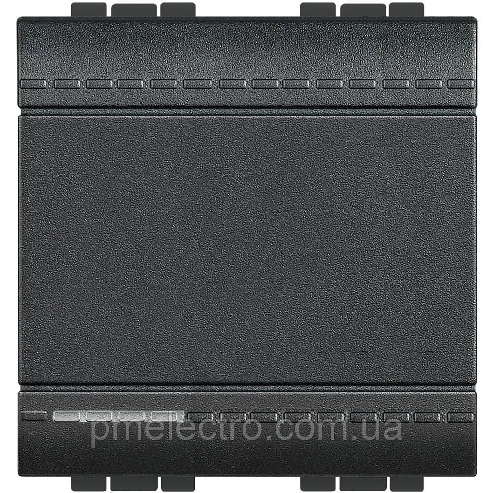 Выключатель 2 модуля антрацит Livinglight