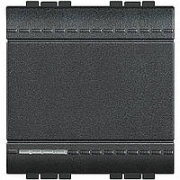 Выключатель 2 модуля антрацит Livinglight, фото 1